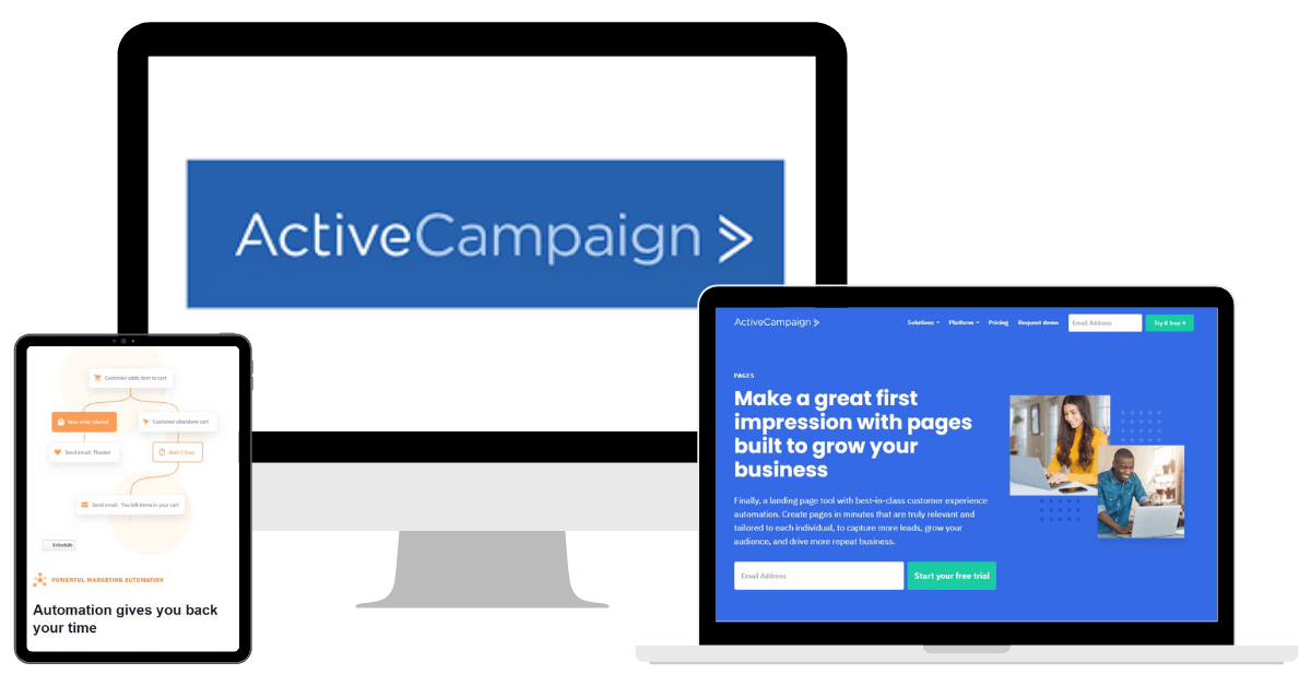 ActiveCampaign Mockup with Logo