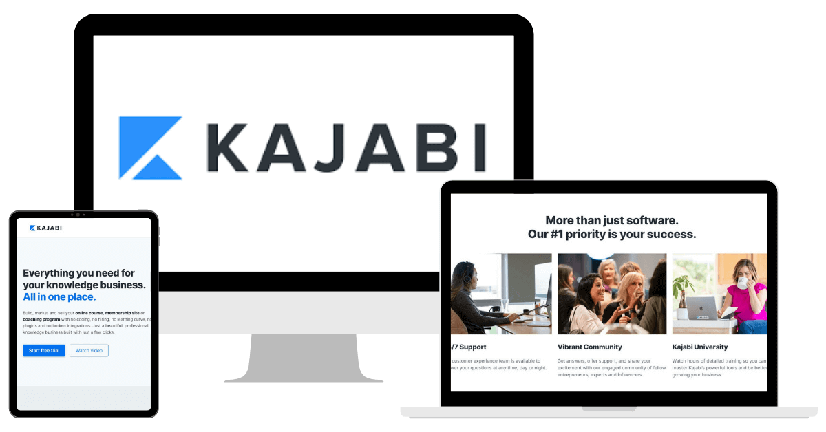 Kajabi Mockup with Logo