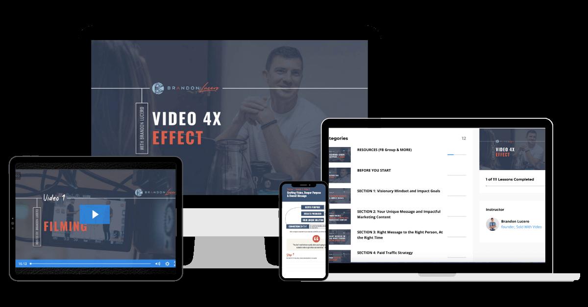 Video 4X Effect Mockup
